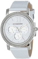 BCBGMAXAZRIA Women's BG6410 Essentials Multi-Function Analog Round White Strap Watch