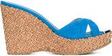 Jimmy Choo Perfume Suede and Cork Wedge Sandals