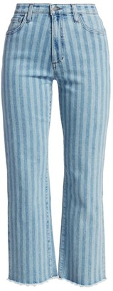 Joe's Jeans Blake High-Rise Striped Straight Jeans