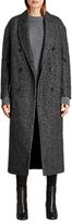 AllSaints Rhea Wool Blend Double Breasted Coat, Charcoal Grey