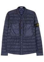 Stone Island Dark Blue Quilted Ripstop Jacket
