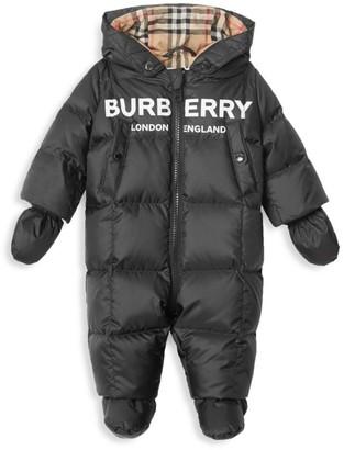 Burberry Baby's Skylar Solid & Vintage Check Snowsuit