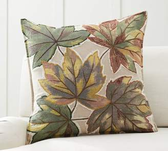 Pottery Barn Oversized Leaf Applique Pillow Cover