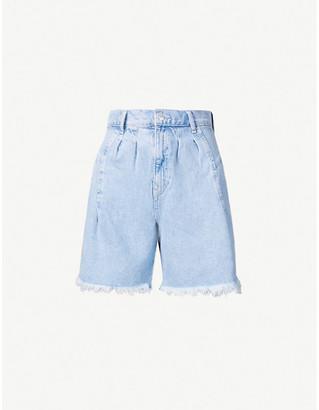 Free People Venice high-rise denim shorts