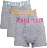 Dream Catcher Mens Popular Cotton Underwear Pack of 3 Grey Boxer Briefs with Comfortsoft Waistband
