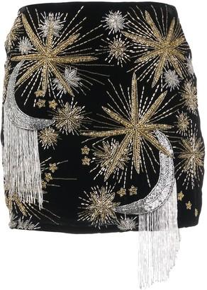retrofete Embroidered Mini Skirt