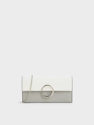 Charles & Keith Ring Detail Long Wallet
