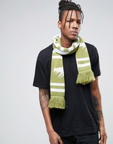 Abuze London Chevron Knitted Scarf With London Script