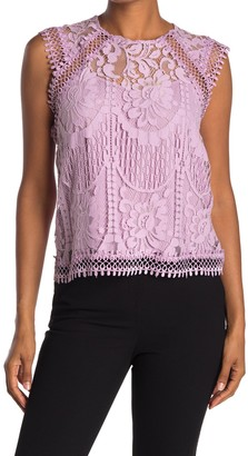Laundry by Shelli Segal Sleeveless Lace Blouse