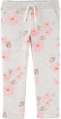 Osh Kosh Toddler Girl Floral Fleece Pants