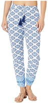 Cabana Life Batik Beach Pants Cover-Up (Navy Multi) Women's Swimwear