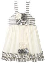 Baby Sara Flower & Ruffle Tunic (Baby & Toddler Girls)