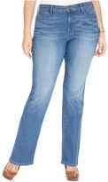 NYDJ Plus Size Barbara Tummy-Slimming Bootcut Jeans, South Beach Wash