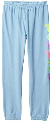 Chaser Puppies Cozy Knit Lounge Pants (Big Kids) (Bluebell) Girl's Casual Pants