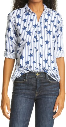 Frank And Eileen Frank Stars & Stripes Superfine Poplin Button-Up Shirt