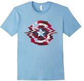 Marvel Captain America Shield Glitch Graphic T-Shirt