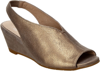 Eileen Fisher Clay Leather Slingback Wedge Sandal