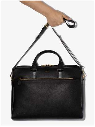 Tom Ford black classic leather briefcase
