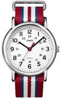 Timex Weekender Slip Thru Nylon Strap Watch - Red/White/Blue T2N746JT