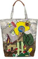 Marc Jacobs x Julie Verhoeven Camo-Print Appliqué Tote Bag