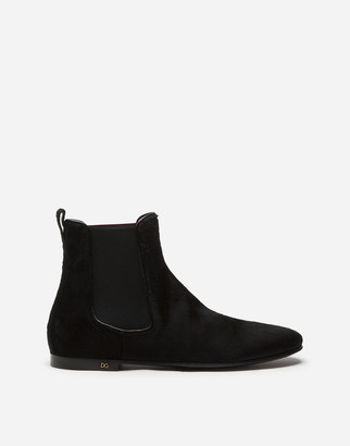 Dolce & Gabbana Chelsea Boots In Pony-Style Calfskin