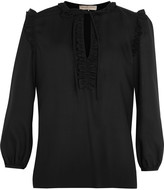 Emilio Pucci Ruffled wool-poplin blouse