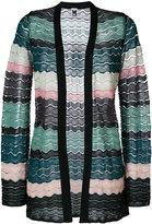 M Missoni knit wave panel cardigan - women - Polyamide - 40