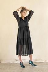 Busby & Fox - Josie Tiered Dress - small | black - Black/Black