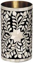 """Mela Artisans 8"""" Imperial Beauty Vase - Black/White"""