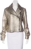 J Brand Metallic Leather Jacket