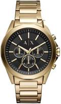 Armani Exchange Drexler Gold Tone Bracelet Mens Watch