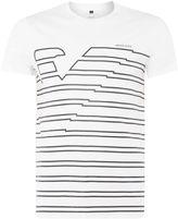 Armani Jeans Men's Regular fit eagle stripe logo t-shirt