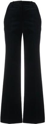 Victoria Beckham Flared Velvet Trousers