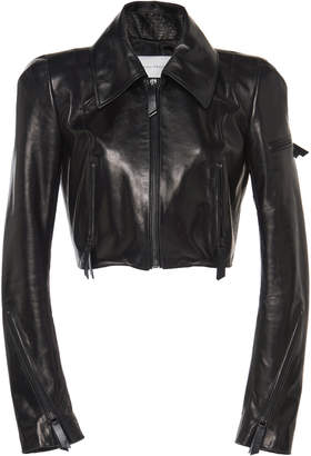 Olivier Theyskens Nasta Cropped Leather Jacket