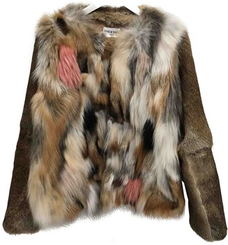 Shine Multicolour Fox Coat for Women