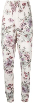 Adam Lippes Floral-Print Knit Trousers