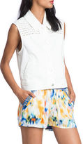 Plenty by Tracy Reese Stretch-Cotton Eyelet Vest