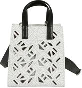 Kenzo Flying Tote From White Flying Tote With Top Handles, Detachable Shoulder Strap, Hanging Leather Tag, Silver-tone Hardware, Cut Out
