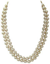One Kings Lane Vintage Champagne Double-Strand Pearl Necklace