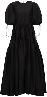 Cecilie Bahnsen Lara tiered faille gown