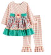 Rare Editions Toddler Girl Paisley Lace Top & Leggings Set