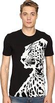 Just Cavalli Men's Large Leopard Short Sleeve T-Shirt
