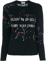 Valentino slogan printed sweatshirt - women - Cotton/Polyamide/Polyester/Metallic Fibre - XS