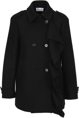 RED Valentino Short Peacoat With Frill