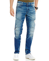 True Religion Geno Slim-Straight Distressed Moto Jeans