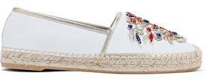 Rene Caovilla Rene' Caovilla Veneziana Crystal-embellished Karung Espadrilles