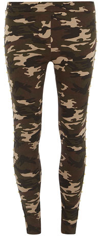 Dorothy Perkins Green camouflage pants