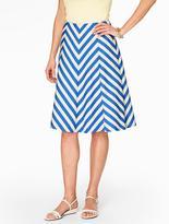Talbots Chevron Stripe Skirt