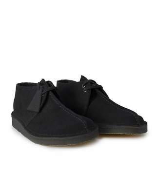 Clarks Suede Desert Trek Shoes Colour: BLACK, Size: UK 7