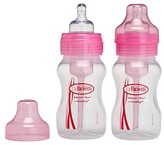 Dr Browns Dr. Brown's 2pk Wide Neck Baby Bottle Set - Pink